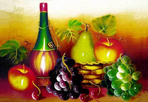 Free shipping new wall decor pictures for Dining room,Delicious Fruits with Wine, Reproduction of  archaic oil painting