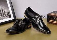 Herbst Schuhe Männer Business Kleid England Leder Herrenschuhe
