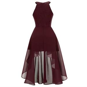 Image 4 - OML538 # Hals Kant Chiffon hanger jurk zwaluwstaart jurk