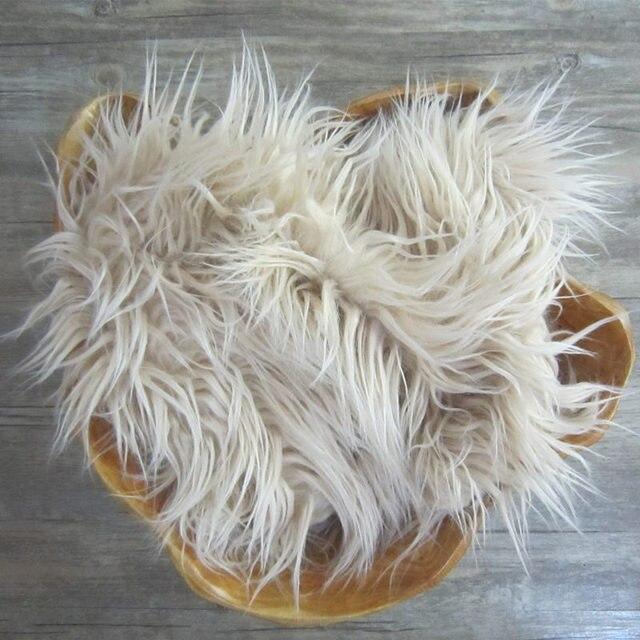 faux fur baby flokati 8cm long pile faux fur blanket newborn photo prop
