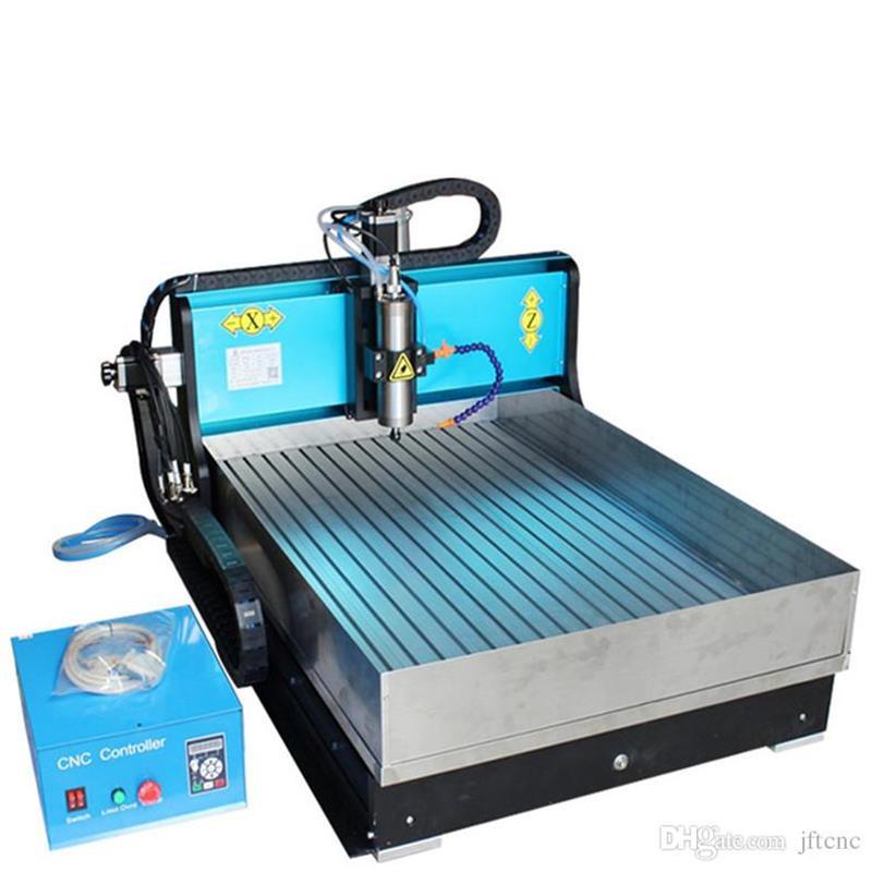 JFT Laser Engraving Machine 1500W 4 Axis CNC Wood Carving Machine with USB Port Engraving Machine with Water Tank 6040