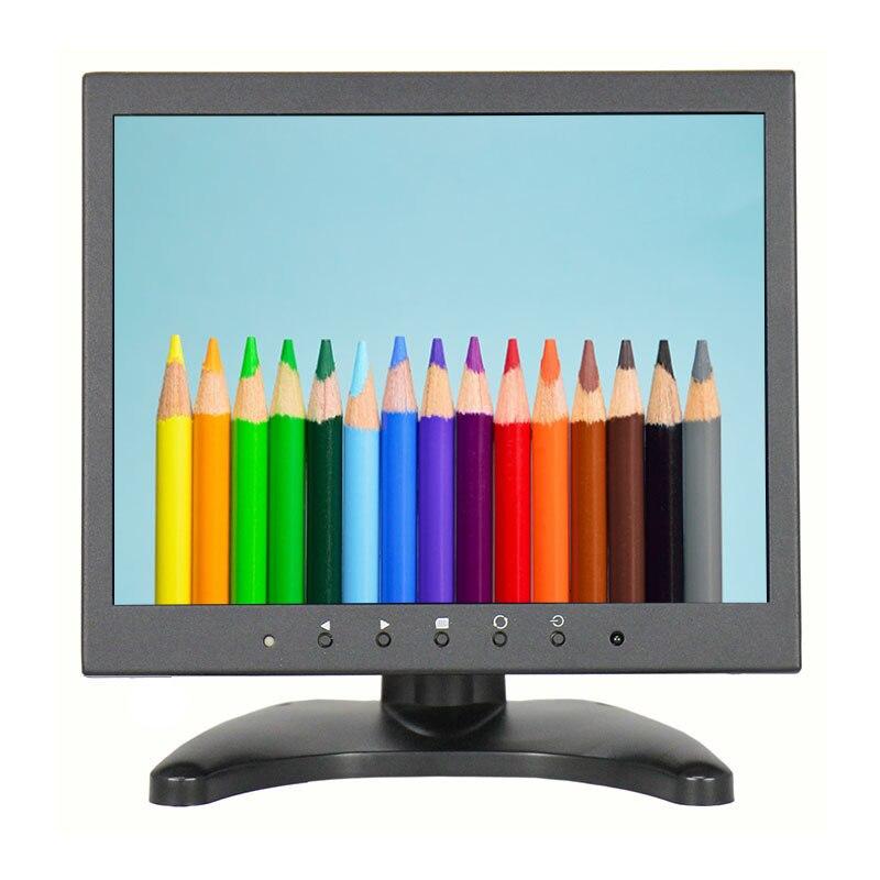 10 Pouce 4:3 Moniteur à Écran 1024*768 HD Moniteur avec VGA HDMI USB BNC Interface avec Haut-parleurs USB Peut jouer Vidéo