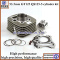 Free shipping high performance good quality 125CC motorcycle engine parts 53.5mm QS125-5 GT125 cylinder kit
