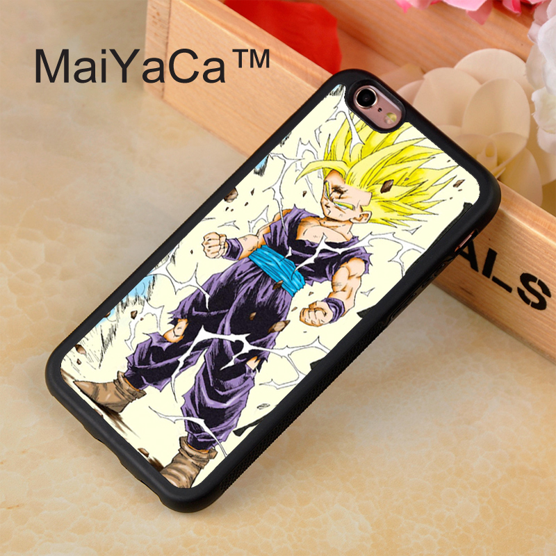 187_C681_R773_Free shipping Dragon Ball Z Super Saiyan Son Goku Durable Case For IPhone 4 4S 5 5S 5C 6 6 Plus Color White or Black with gift