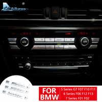 Car Air Conditioning Control CD Panel Button Cover Sitcker for BMW F07 5GT F10 F11 F06 F12 F13 F01 F02 Accessories Interior Trim