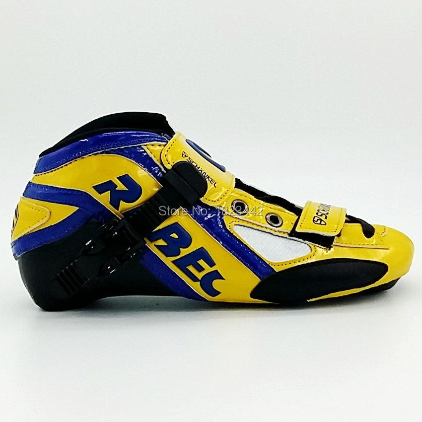Schankle Rebec Adult children Unisex speed skating shoes yellow shoes straight row roller skate