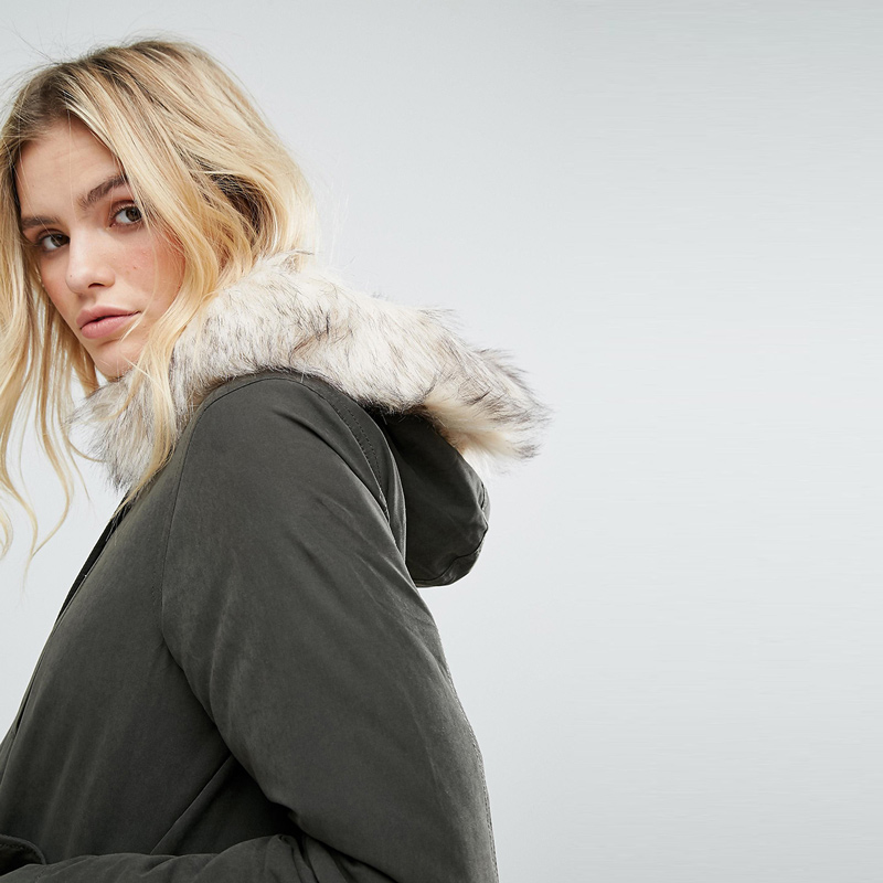 HDY Haoduoyi Jacket Women Winter Overcoat Fur Collar Winter Autumn Zipper Down 2019 Warm Female Hooded Thick Clothes in Down Coats from Women 39 s Clothing