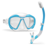 Summer Women Scuba Diving Mask With Dry Snorkel Snorkel Set Anti fog Swimming Goggles Wide Vision Underwater Sports Swim Eyewer