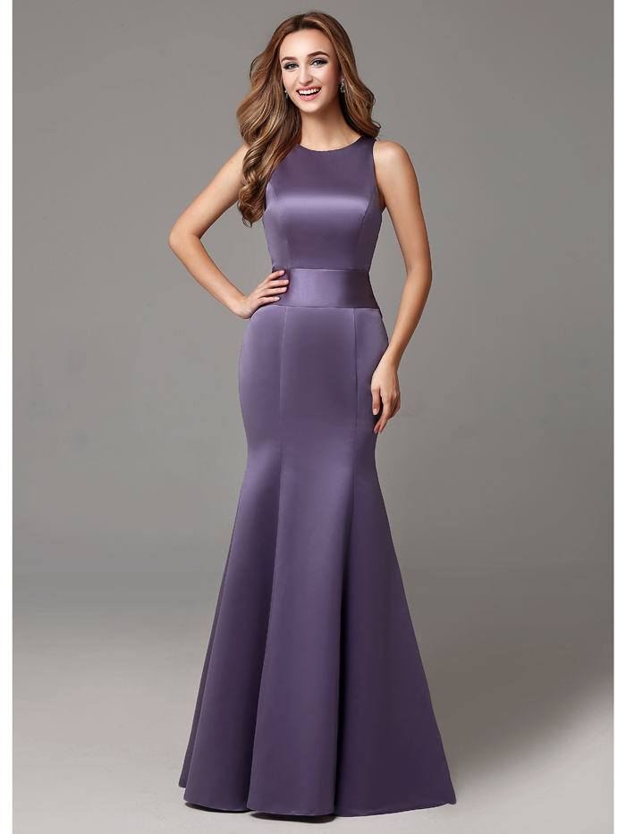 2016 invierno púrpura Sation larga formales para adultos mujeres ...