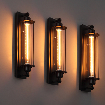 Industrial vintage wall light bra iron loft lamps 1