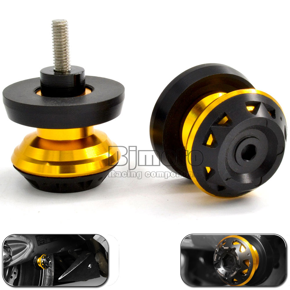 Screws-3004 New Arrival Motorcycle accessories M6 CNC Aluminum Swingarm Spools slider fits for <font><b>Yamaha</b></font> FZ6 MT07 MT09 Triumph