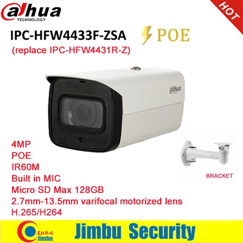 Dahua macchina fotografica del IP 4MP POE IPC-HFW4433F-ZSA Sostituire IPC-HFW4431R-Z 2.7mm ~ 13.5mm varifocale obiettivo motorizzato H.265/H.264 Micro SD