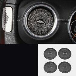 Lsrtw2017 titanium nero in acciaio inox car dashboard vent trim per jeep wrangler 2018 2019 2020 jl