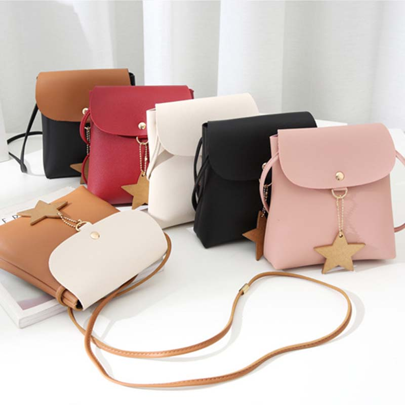 Accessories Travel Bags For Women PU Leather Star Tassel Shoulder Bag Mini Soft Small Messenger Bag Ladies Bags Totes LB