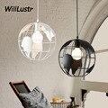 Железный шаровой подвесной светильник Tellurion  подвесной светильник для ресторана  отеля  бара  кафе  спальни  столовой  креативный подвесной ...