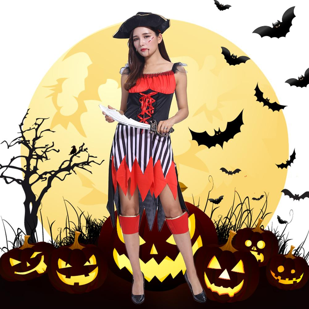 Holiday Costumes Set Clothes Halloween Women's Adult Pirate's Performance Suit For Female Pirates of the Somalia Captain Wild