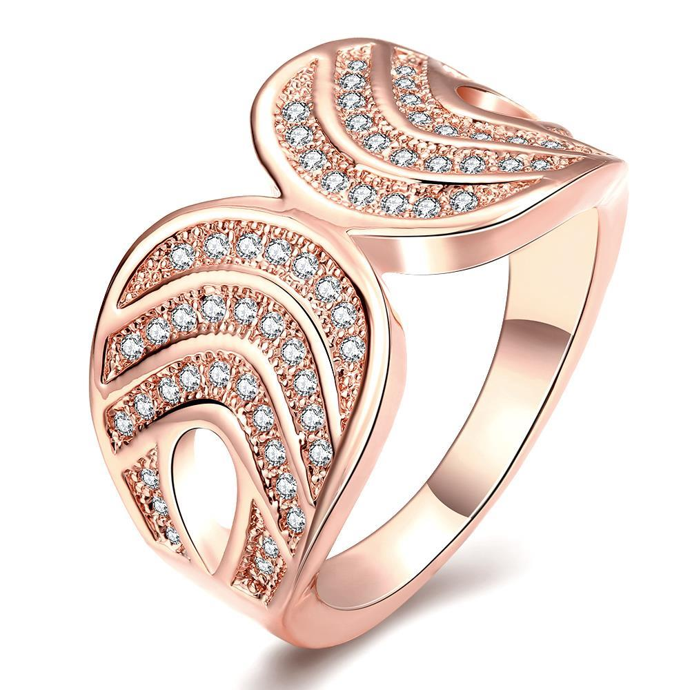 R061-B High Quality Nickle Free Antiallergic New Fashion Jewelry 18K Plated zircon Ring