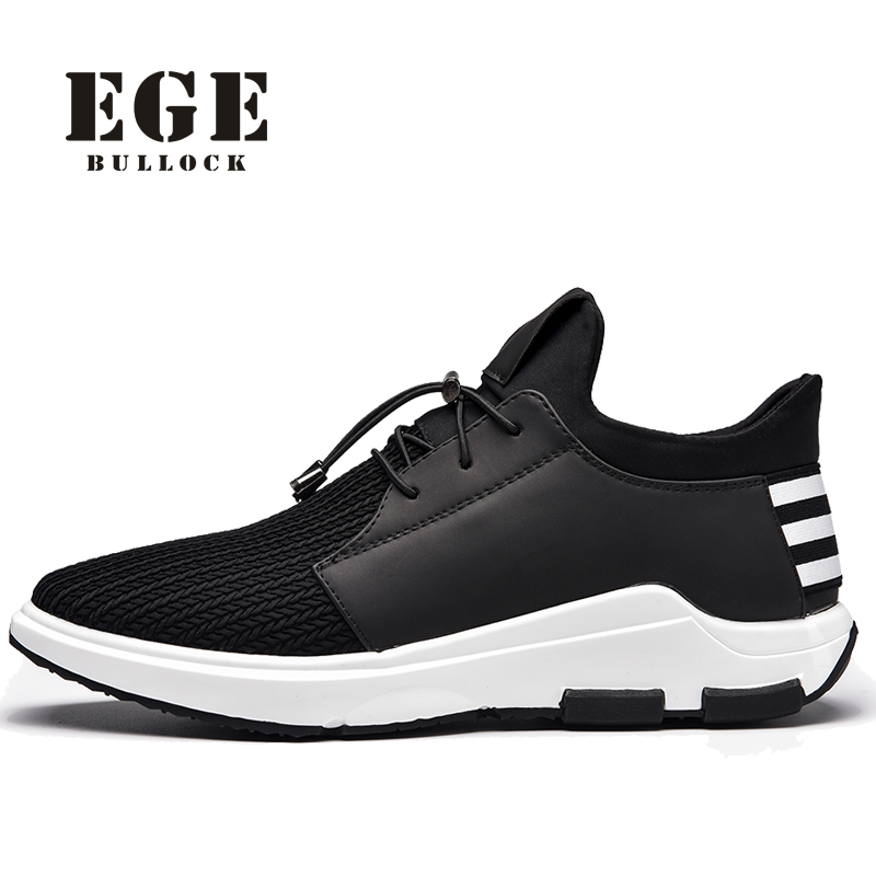 Men Casual Shoes EGE Brand Fashion Style Mesh Lace-up Male Flats Breathable High Quality Spring Stylish Shoes for Men #1023 fashion designer famous brand air mesh glossy men casual shoes summer outdoor breathable durable lace up unisex fashion shoes