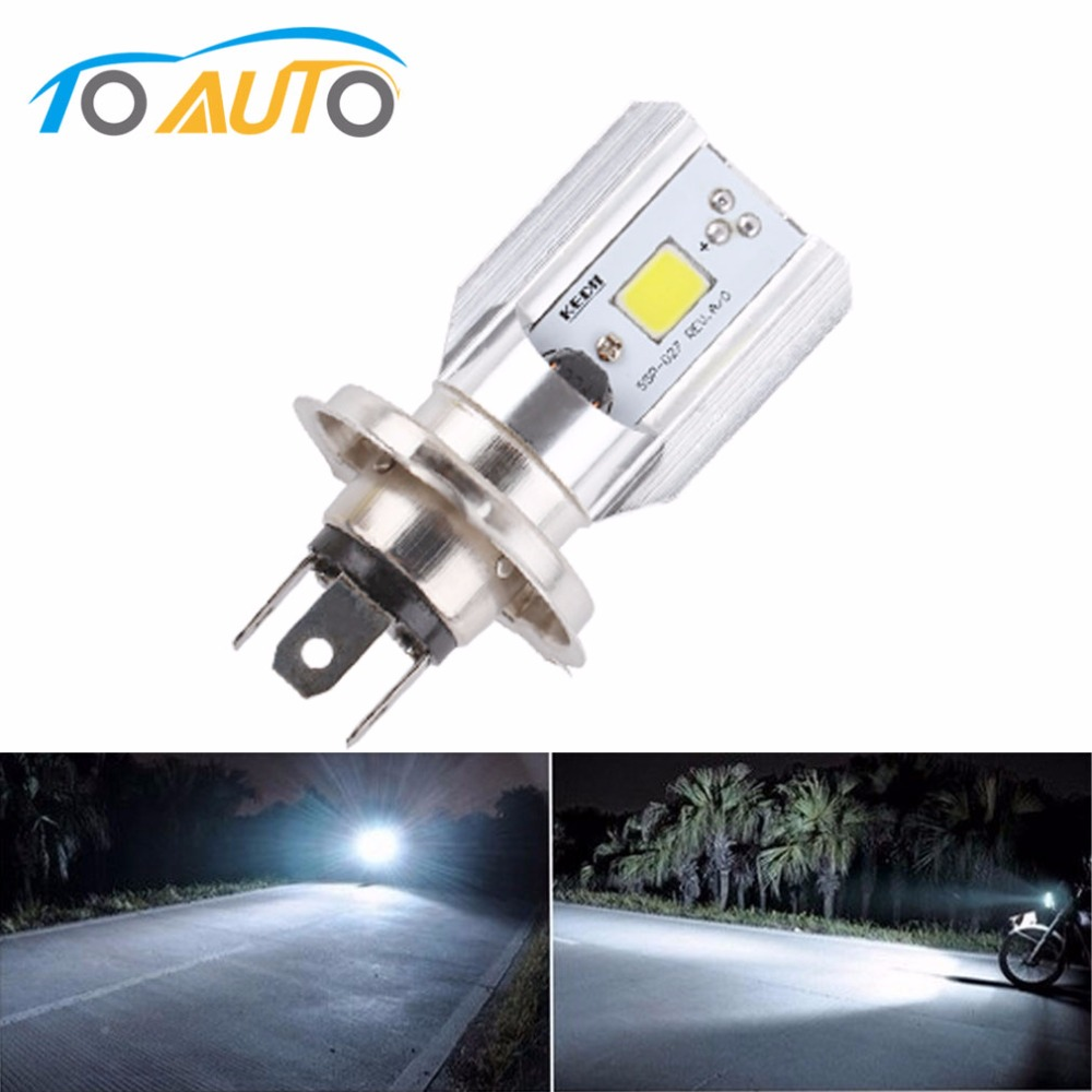 H4 Led Motorcycle Headlight Bulbs COB Led 12-36V 1000LM H/L Lamp Scooter ATV Moto Accessories Fog Lights 6000K White image