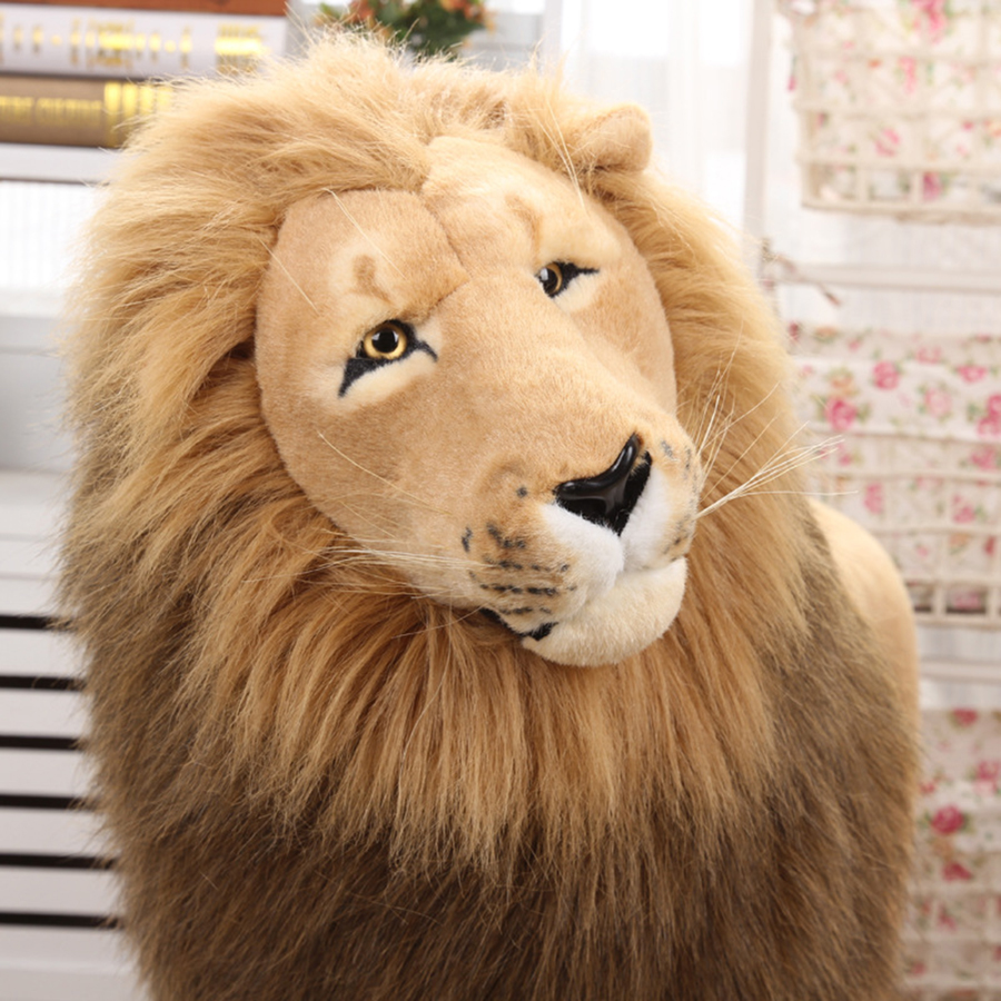 2018 Hot 110cm Giant Large Plush Lion Toy Soft Stuffed Simulation Animals Realistic Toys Doll Anime Children Doll Easter 50T0346 fancytrader new style giant plush stuffed kids toys lovely rubber duck 39 100cm yellow rubber duck free shipping ft90122
