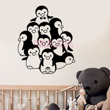 Funny Penguin Vinyl Wall Stickers For living Room & kids room Vinyl Decals Sticker Wall Art Wallpaper For Home Decoration