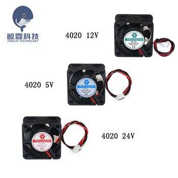 4020 5V 12V 24V DC ordenador CPU enfriador Mini ventilador de refrigeración 40MM 40x40x20mm pequeño extractor para impresora 3D 2pin 40x40x20mm