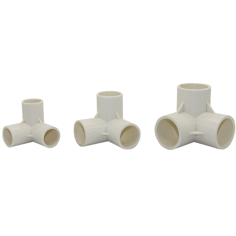 1PC PVC Three-Dimensional Tees Inner Diameter 20mm,25mm,32mm PVC Pipe Fittings Home Garden Irrigation Water Connectors DIY  Tool