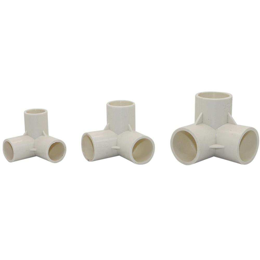 1PC PVC Three-Dimensional Tees Inner Diameter 20mm,25mm,32mm PVC Pipe Fittings Home Garden Irrigation Water Connectors DIY  Tool
