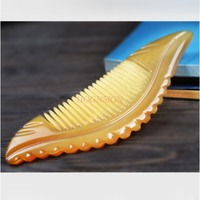Natural Yak Horn Comb Anti Love Female Shun Long Hair Loss Pure Massage Genuine Yellow White Buffalo Combs Hairdressing