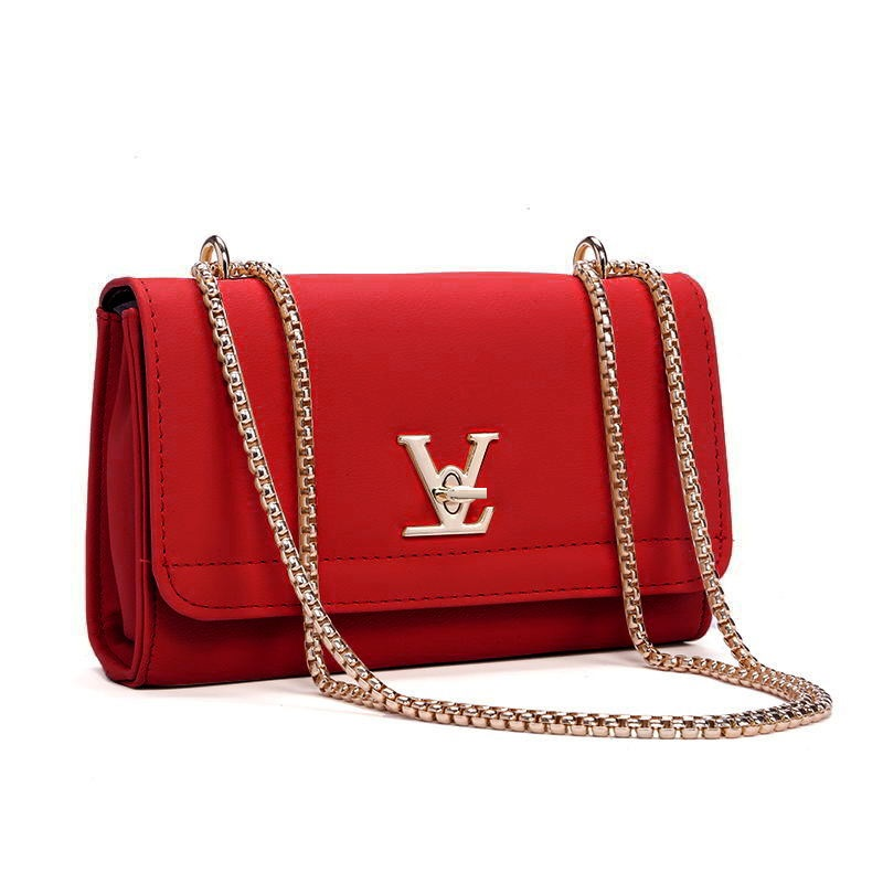 2018 New Fashion High Quality brand leather bag chain Shoulder Bags ...