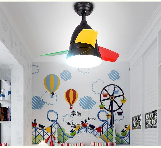 Simple Modern Bedroom Fan Chandelier Lights Dining Room Living Children S Mini