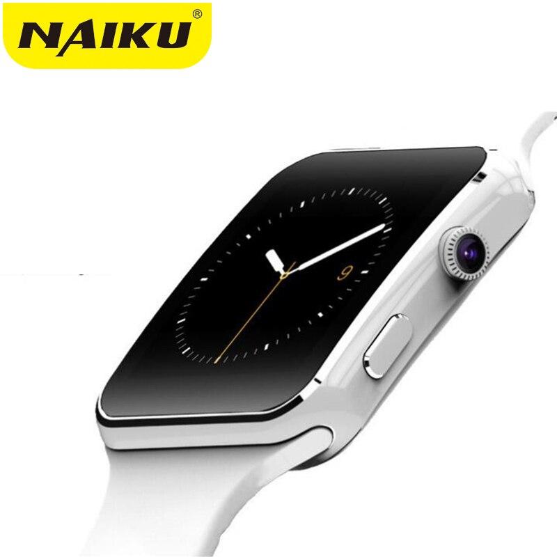 Reloj inteligente Bluetooth deporte pasómetro inteligente X6 con soporte de cámara tarjeta SIM Whatsapp Facebook para Android Teléfono