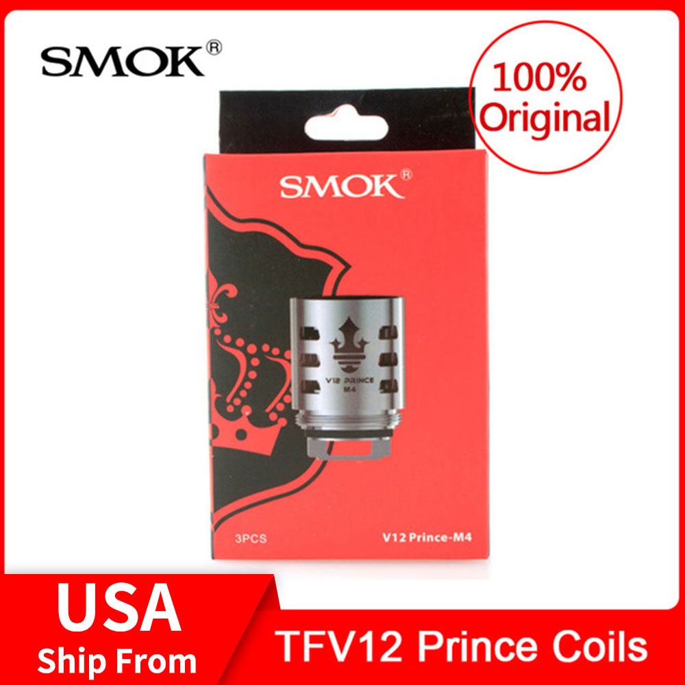 Original SMOK TFV12 Prince Coils -Q4/ X6/ T10/ M4 For Smok Tfv12 Prince Tank Electronic Cigarette Core Stick Prince/X-priv Kit