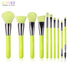 Профессиональные кисти для макияжа docolor 10 шт синтетическая