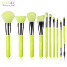 Docolor Professional 10Pcs Makeup Brushes Hair Synthetic Cosmetics Neon Brush Powder Foundation Eyeshadow Make Up Brushes Set professional ucanbe 6pcs set makeup brushes set for foundation eyeshadow powder brush tool synthetic hair make up sets