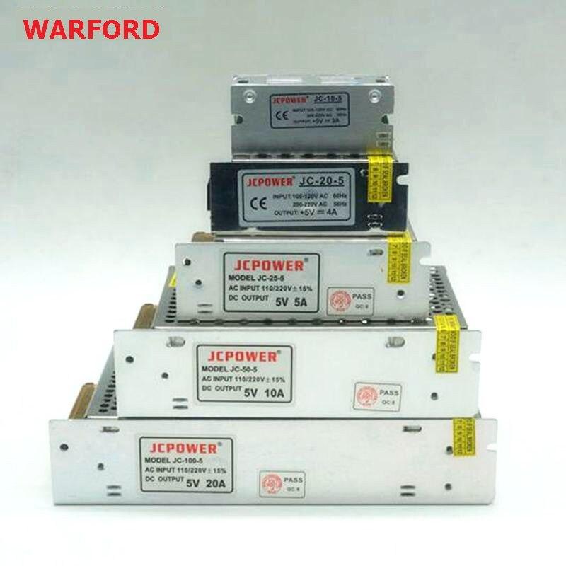 DC 5V 2A/3A/4A/5A/6A/8A/10A/12A/20A/30A/40A/60A Switch LED Power Supply Transformers For WS2812B WS2801 APA102 8806 LED Strip 201w led switching power supply 85 265ac input 40a 16 5a 8 3a 4 2a for led strip light power suply 5v 12v output