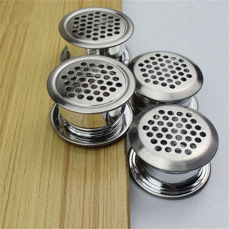 10set Double-sided Stainless Steel Ventilation Grilles Air Vent Cover Louver Vent Hole For Shoe Cabinet Closet Wardrobe