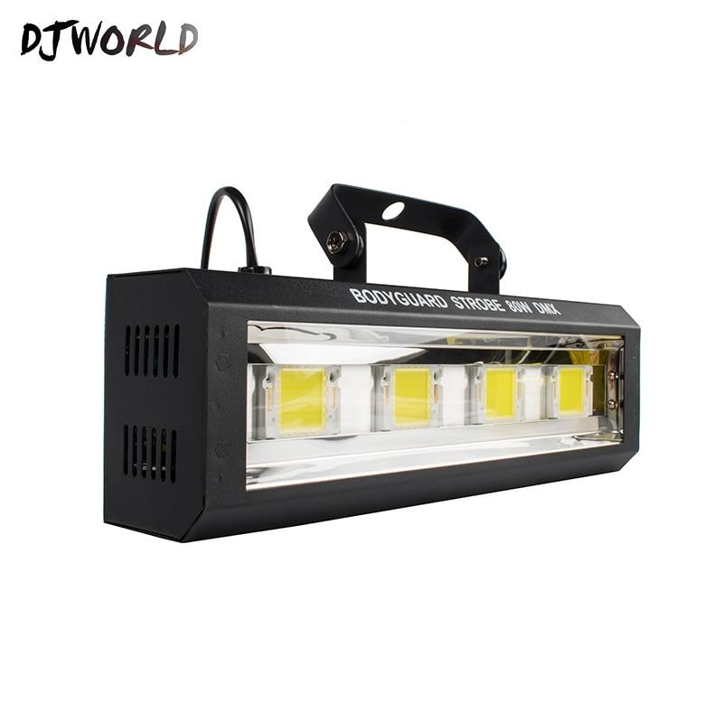 Djworld Top Selling 80W LED Cool White Strobe Lighting  5 DMX Channel Moving Head Lighting High Power Light For Party KTV Disco