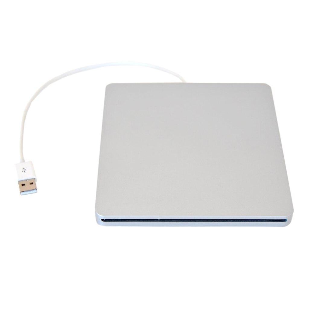 Externe USB DVD Cas pour MacBook Pro SATA Disque Dur DVD Super Multi slot a look aluminium Argent