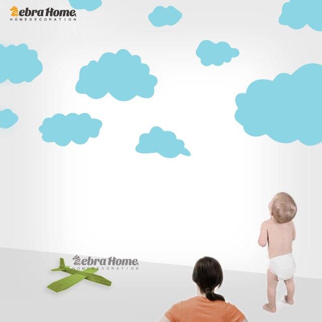 € 8.76 |Chaud bande dessinée nuage Stickers muraux pour enfants chambre  bébé Stickers muraux amovible mignon décoration de la maison Art mur ...