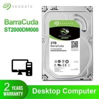 Seagate 2TB 3.5'' Desktop HDD Internal Hard Disk Drive Original 2 TB 7200RPM SATA 6Gb/s Hard Drive For Computer ST2000DM008
