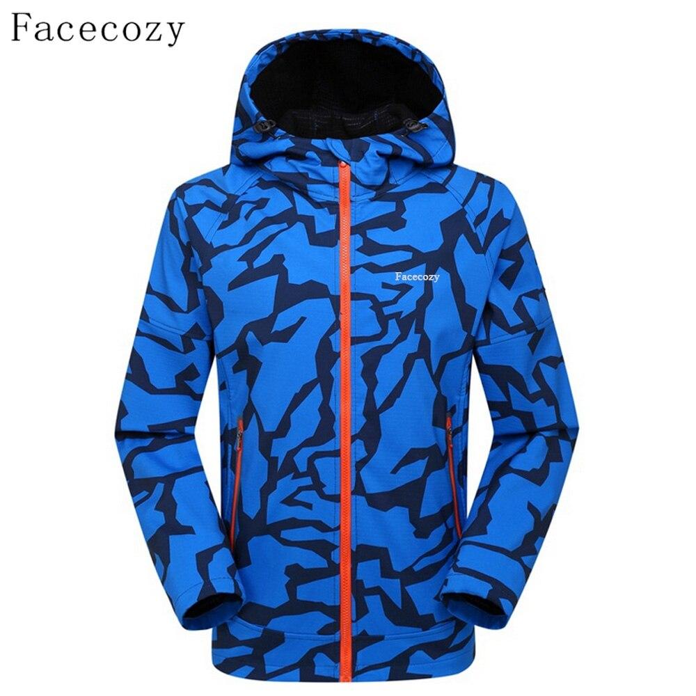 Facecozy Men s Camouflage Softshell Jackets Male Outdoor Sports Windproof Trekking Mountain Outwear Coat Single Layer