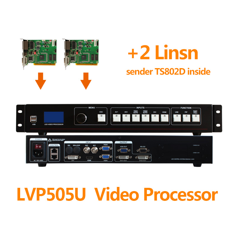 absen video function and outdoor usage screen display rental usb led video processor mvp505u with two ts802d
