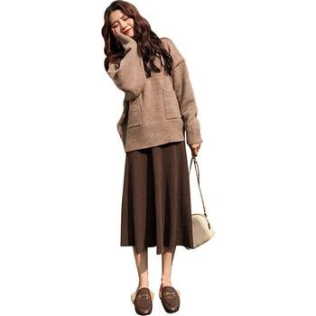 новый осень зима модные женские туфли водолазка вязаный свитер дна