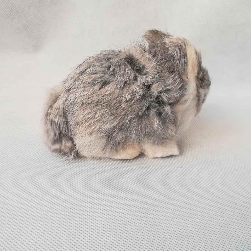 Реальная жизнь игрушка серый кролик около 13x7x10 см модель полиэтилена и меха Кролик модель украшения реквизит, модель подарок d0488