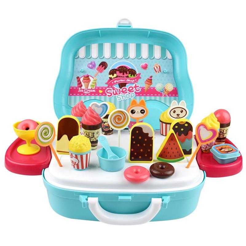 Attento Giochi Di Imitazione Da Cucina Per Bambini Montessori Giocattoli Per I Bambini Ice Cream Shop Supermercato Kichen Oyuncak Brinquedo Juguetes Brinquedos Costruzione Robusta