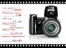 Original Chinese DSLR Camera Multi Languages 16mp 2.4″ Digital Fotografia Lithium Battery Cameras Fixed Focus Camcorder DC-510T