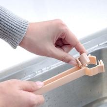 New 1pc Sponge Bathroom Kitchen Faucet Clip Dish Cloth Clip Shelf Drain Dry Towel Organizer Sink Hanging Storage Rack Storage