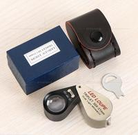30x 21mm Lens LED illuminated Magnifier antique gem appreciation Pocket magnifying glass with 6 LED lights jewelry Loupe