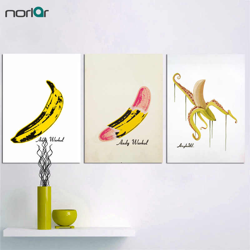 Art Canvas Print Poster Popular Andy Warhol Banana Painting Art Print Wall Decor Canvas Painting Wall Picture No Frame